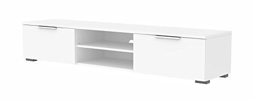 Tvilum 70189uuuu Match TV Stand, White High Gloss - Large Sideboard