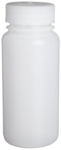 - Bel-Art Precisionware Wide-Mouth 250ml (8oz) High-Density Polyethylene Bottles; Polypropylene Cap, 45mm Closure (Pack of 12) (F10625-0006)