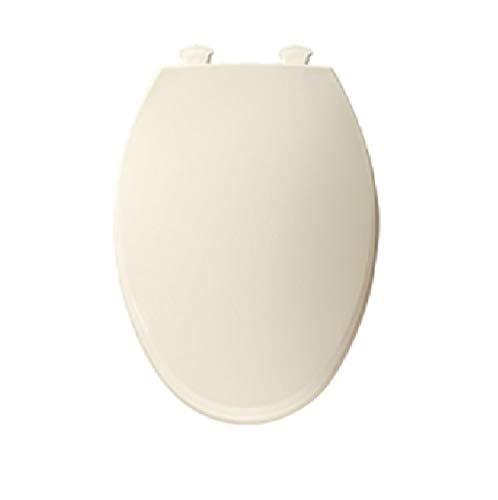 Bemis 800EC 346 800EC346 Plastic Round Toilet Seat with Easy Clean and Change Hinge, Biscuit/Linen