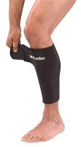 Mueller Adjustable Calf/Shin Splint Support, Wraparound design, Black - Regular 8' - 16'