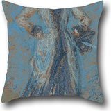 (Oil Painting James McNeill Whistler - The Blue Girl Pillow Covers ,best For Home Theater,lounge,saloon,lounge,dinning Room 20 X 20 Inches / 50 By 50 Cm(two Sides) )