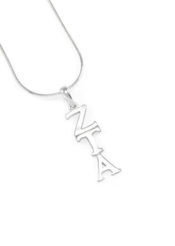 Zeta Tau Alpha Sterling Silver Lavaliere - Tau Zeta Merchandise Alpha