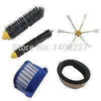 - Bumper+ Aero Vac Filter+Bristle Brush+Flexible Beater Brush +Side Brush for iRobot Roomba 600 Series (620 630 650 660 680)