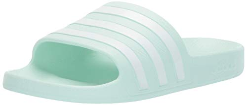 adidas Women's Adilette Aqua Sandal, ice Mint/White/ice Mint, 9 M US