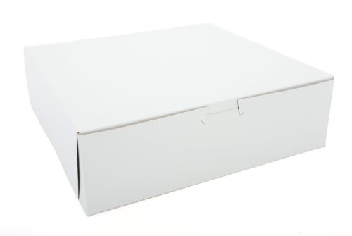 SCT 0971 Tuck-Top Bakery Boxes, Paperboard, Clay Coated, Non-Window, 10w x 10d x 3h, White (Case of (White Top Cake Box)