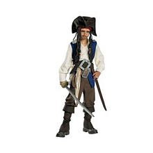 Deluxe Captain Jack Sparrow Costume - Medium (Jack Sparrow Boys Costume)