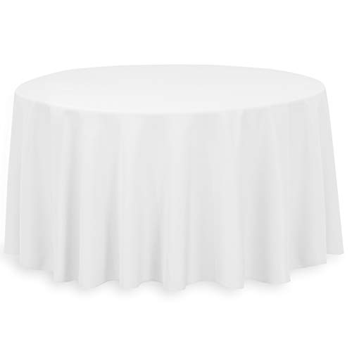 LinenTablecloth 120-Inch Round Polyester Tablecloth