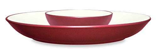 (Noritake Colorwave Raspberry 13-3/4-Inch Chip and Dip)