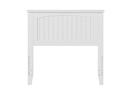 Bedroom Atlantic Furniture AR282822 Nantucket Headboard, Twin, White farmhouse headboards