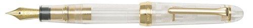 Gold Medium Point Fountain Pen - Sailor 1911 Standard Clear Transparent GT 14K Gold Medium Point Fountain Pen - 11-1223-400