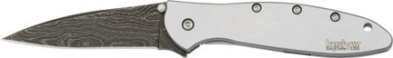 Kershaw Damascus Steel Leek Assisted Opening Stainless Handles (Kershaw Leek 1660cb)