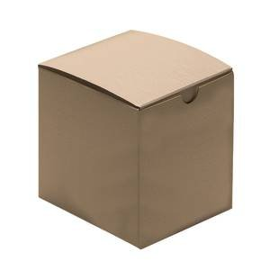 Recyclable Kraft Gift Boxes 4 x 4 x 4 Case of 100