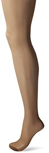 Hanes Women's Control Top Reinforced Toe Silk Reflections Panty Hose, Barely There, A/B]()