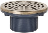 Sioux Chief 2 in. On-Grade Adjustable Floor Drain in. ABS MIP Thread Round Ring and Strainer