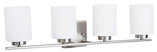 Brushed Nickel 2 Globe Vanity Bath Light Bar Interior: Sunnyfair 4 Bulb Brushed Nickel Vanity Lights For Bathroom