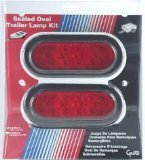 Grote 65390-5 Red SuperNova LED Oval Trailer Stop Tail Turn Submersible Lighting Kit by Grote
