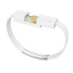youbo 2 Unids Pulsera cargador USB Cable de datos de carga para el iPhone x 8 7 6 s más 5 5S (Blanco)