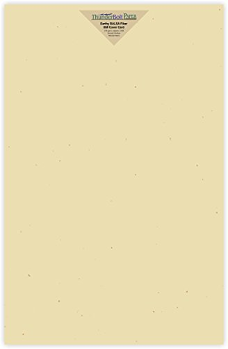 200 Earthy Balsa Fiber 80# Cover Paper Sheets - 11'' X 17'' (11X17 Inches) Tabloid|Ledger|Booklet Size - Light Tan Color with Natural Fibers - Smooth Finish by ThunderBolt Paper