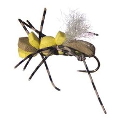 Wetfly Fat Albert Tan and Yellow Flies, 1 Dozen Fly Fishing Flies (8)
