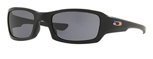 Oakley Fives Squared OO9238 923804 54M Polished Black/Grey Sunglasses For Men+BUNDLE with Oakley Accessory Leash Kit (Oakley Ersatzgläser Fives 3.0)