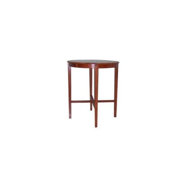 Round Solid Top Pub Table with Shaker Style Legs in Cherry Finish   Dining Tables