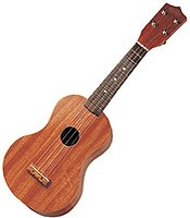 Natural Red Wood Ukulele 21""