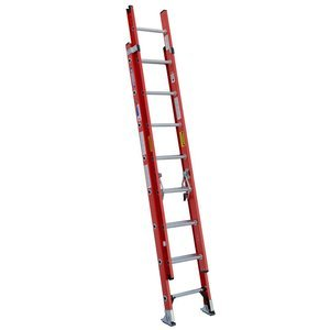 Werner D6228-2 300-Pound Duty Rating Fiberglass Flat D-Rung Extension Ladder, 28-Foot