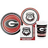 (University of Georgia Bulldogs Party Supply Pack! Bundle Includes Plates Napkins & Cups for 8)