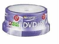 Memorex 05618 Dvd+R 4.7Gb 25Pk Spindle