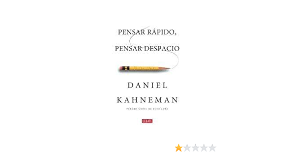 Amazon Com Pensar Rápido Pensar Despacio 9789871786404 Kahneman Books