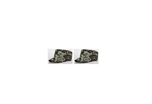 TechFaith Army Cadet Hat Everyday Military Style Cap (2 Pack) Private Patrol Cap Cotton Basic Cap (A (Pack of 2))