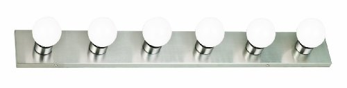 (Design House 519314 6 Light Vanity Light, Satin Nickel)