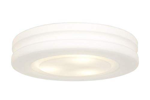 - Access Lighting 50189-WH/OPL AltumOPL Glass Flush Mount with Opal Glass Shade, White Finish