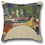 [16 X 16 Inches / 40 By 40 Cm Oil Painting Paul Gauguin - Arearea Joyousness II Pillow Shams,twin Sides Is Fit For Bar,teens] (In N Out Burger Halloween Costume)
