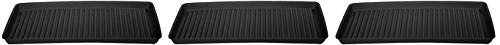 Eagle 1677B Containment Utility Tray, 36'' Length x 18'' Width x 2'' Height, Black (3-(Pack))