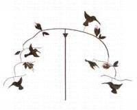 (Blue Handworks Hummingbirds Balancer Stake)