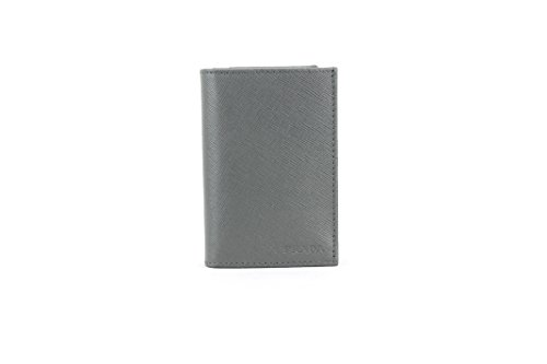 Prada Saffiano Leather Card Case, Grey (Mercurio)
