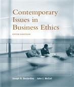 Contemporary Issues In Business Ethics: