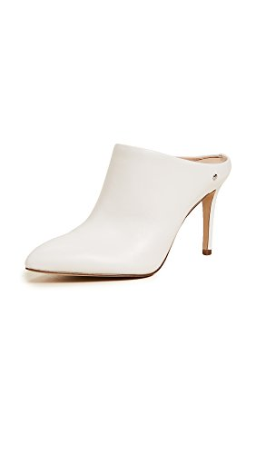 Oran Ciabatte Leather White Sam Edelman Bright Donna Bianco 5xwABR