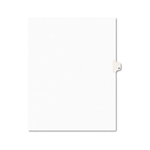 - Avery Individual Legal Exhibit Dividers, Avery Style, 11, Side Tab, 8.5 x 11 inches, Pack of 25 (11921)