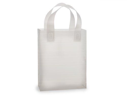 - Clear Frosted Plastic Gift Bags with Handle 8