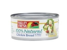 VALLEY FRESH CHICKEN BREAST CANNED 100% NATURAL IN WATER 10 OZ PACK OF 4