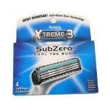 Schick Xtreme3 SubZero 4 Cartridges