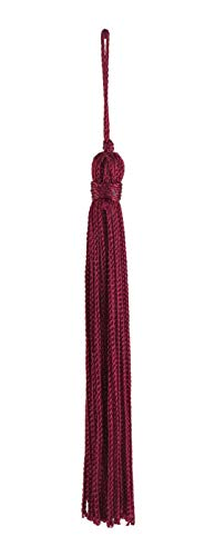 DÉCOPRO Set of 10 Ruby Chainette Tassel, 4 Inch Long with 1 Inch Loop, Basic Trim Collection Style# RT04 Color:Ruby - ()