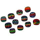 Used, Set of 12 Hacky Sacks, Assorted Colors and Geometric for sale  Delivered anywhere in USA