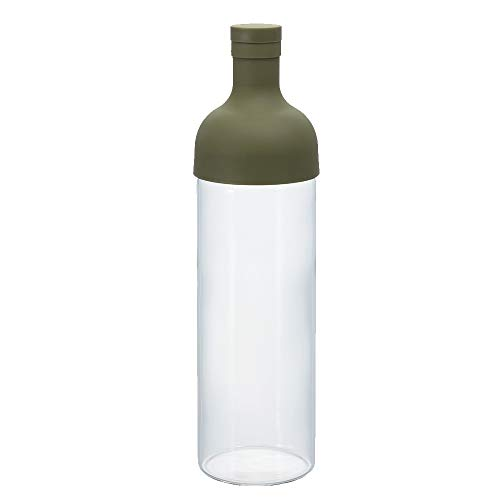 Hario Cold Brew Filter-In Tea Bottle, 750ml, Olive Green