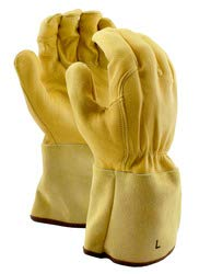 Stauffer Goatskin MIG/TIG Welders Gloves with Leather Gauntlet Cuff, Extra Large, (Pack of 12) by Stauffer Glove & Safety (Image #3)