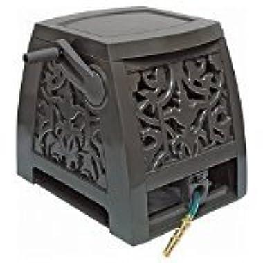 NeverLeak Auto-Track Poly Wrought Iron Designer Series Hose Cabinet with 225-Feet Hose Capacity - 2391375NL