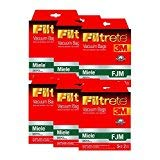 Miele FJM Synthetic Vacuum Bags and Filters by Filtrete, 30 Bags and 12 Filters