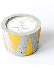 Triangle Scented Candle - Macbailey Candle Co., Concrete Candle Gold Triangles-Oakmoss Amber 8 Ounce